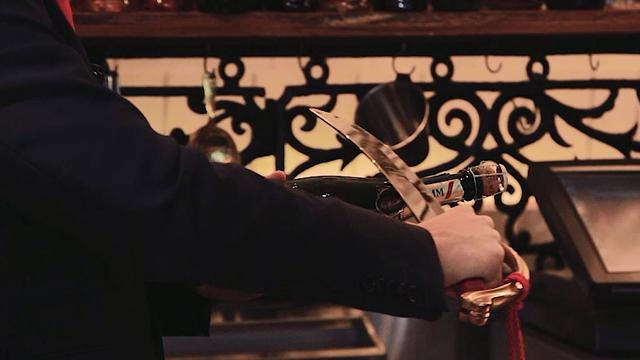 How to sabre a champagne bottle