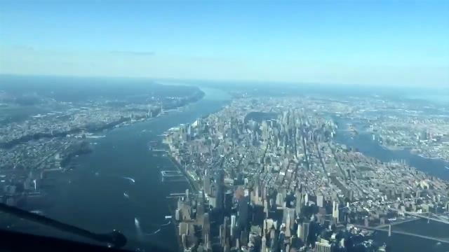 Take in all of New York City in 20 seconds in this pilot's-eye-view time-lapse