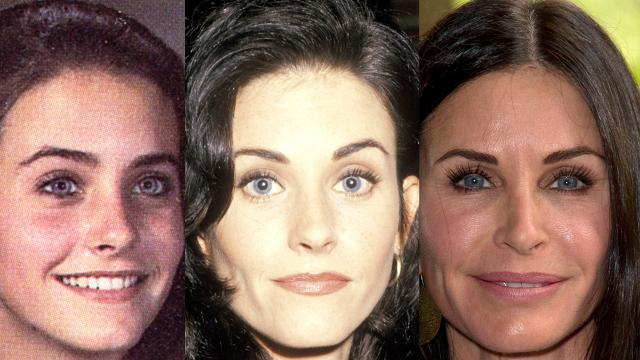 The evolution of Courteney Cox's face