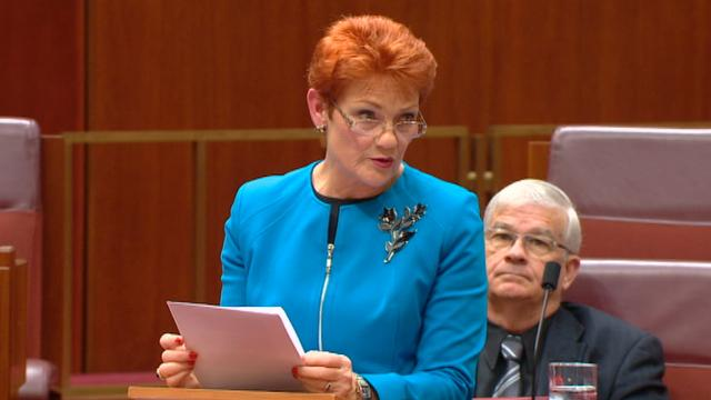 9RAW: Pauline Hanson delivers maiden Senate speech