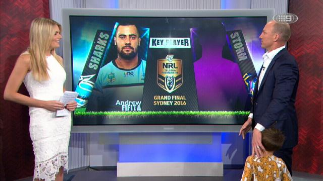 Lockyer palms off his son on the Footy Show