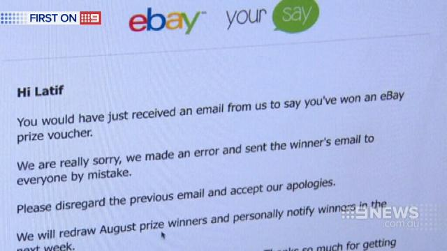 VIDEO: Million dollar email has eBay in a spin