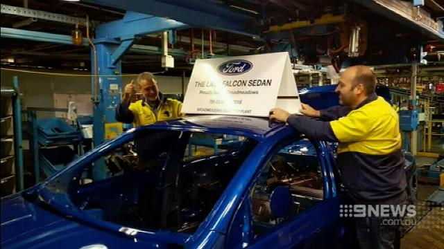 VIDEO: Last Ford car to roll off Victorian factory production line
