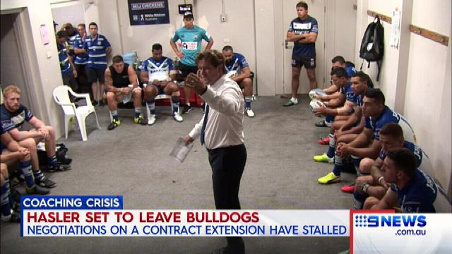Hasler set to face exit door at Bulldogs