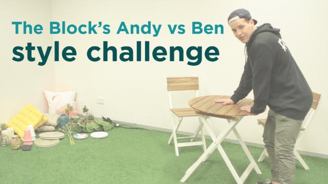 The Block's Andy vs Ben style challenge