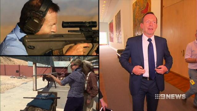 Abbott opens up Coalition rift over gun control