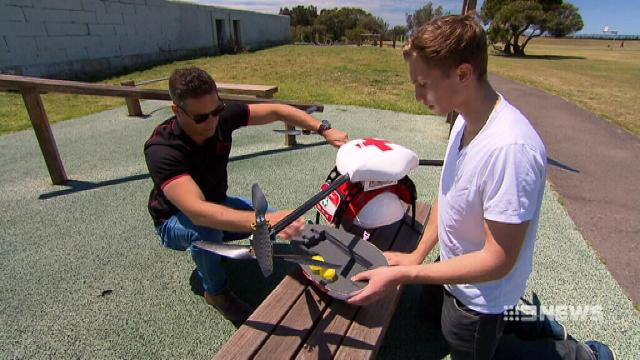 VIDEO: High-powered push to use drones in medicine