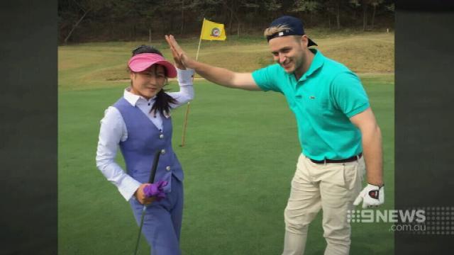 VIDEO: Brisbane men talk their way into the North Korean Golf Open