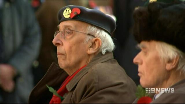 VIDEO: Prince Harry leads Armistice Day services