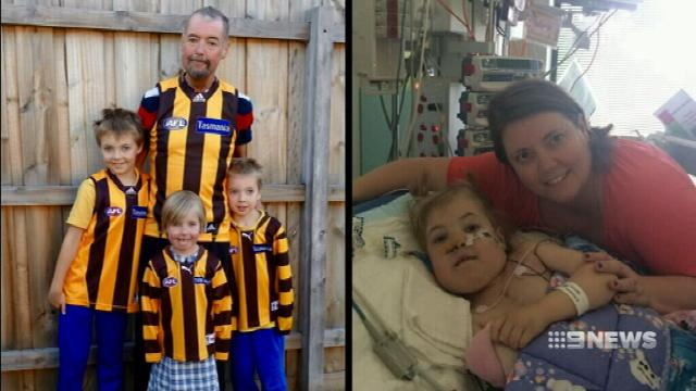 Courageous father shares wish for his seriously ill daughter