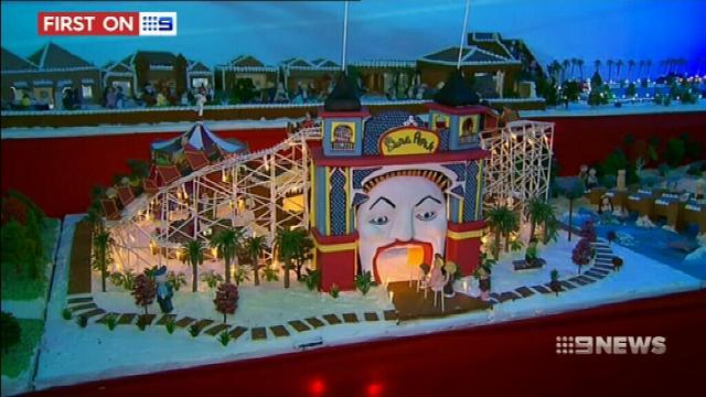 VIDEO: Melbourne unveils gingerbread village