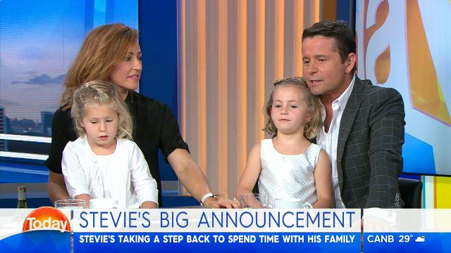 Weatherman Stevie Jacobs cuts down on work 'for the family'