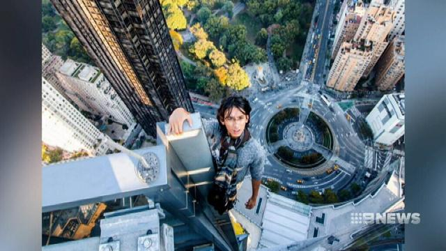 VIDEO: Police catch up with teen daredevil behind jaw-dropping New York stunts