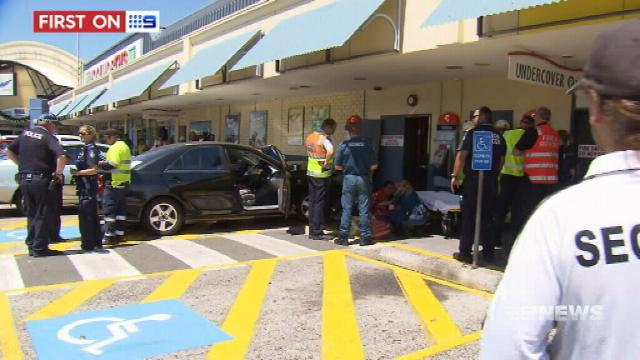 VIDEO: Shoppers injured in Logan car accident