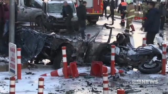 VIDEO: Car bomb in Turkey kills four, wounds 10