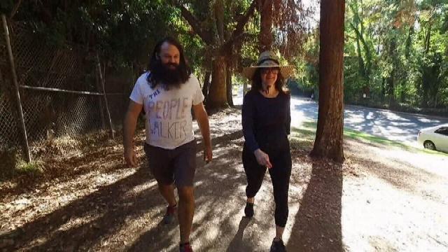 "VIDEO: LA man starts ""people walking"" business"