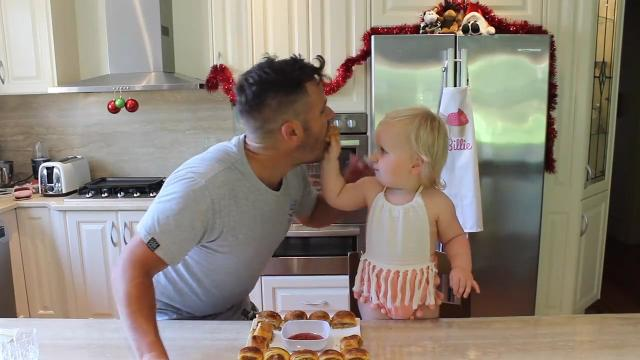 Dad and toddler kitchen team Cooking with Billie Coco are back