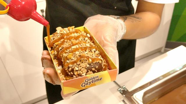 Ordering a Golden Gaytime at Sydney's pop-up Crumb Shed