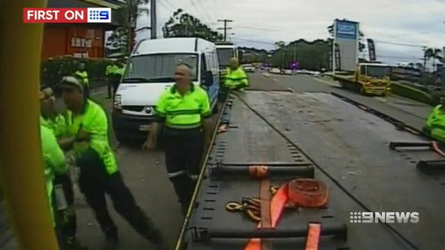 VIDEO: Brisbane tow truck drivers fight back against turf war abuse