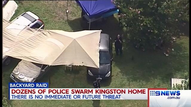 VIDEO: AFP raids Kingston home