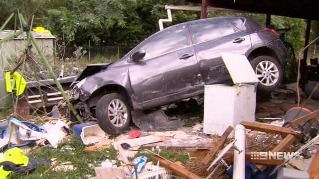 VIDEO: Out-of-control car bulldozes through Ipswich home