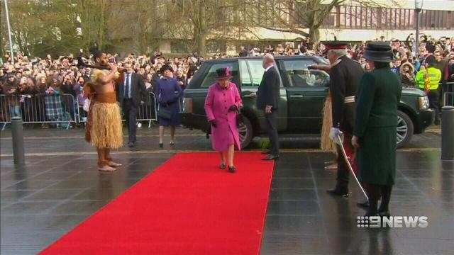 VIDEO: The Queen comes face-to-face with Fijian warriors