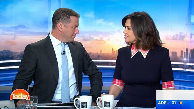 Lisa Wilkinson's chair squeaks on TODAY