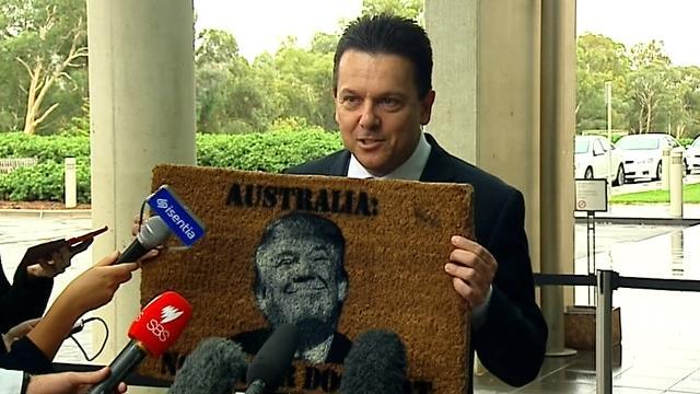 'Trump's smug face sums it up': Senator Nick Xenophon warns Australia won't be US doormat
