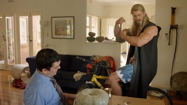 Thor reunites with his Aussie roommate, refuses to get a real job in hilarious spoof