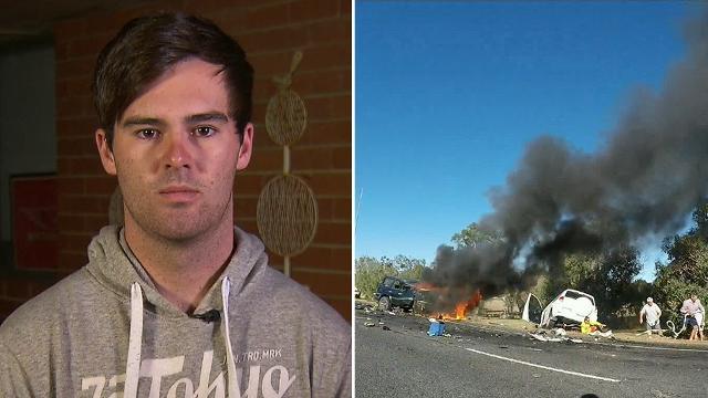 Man who witnessed 'horrific' head-on WA crash says he's 'in disbelief'