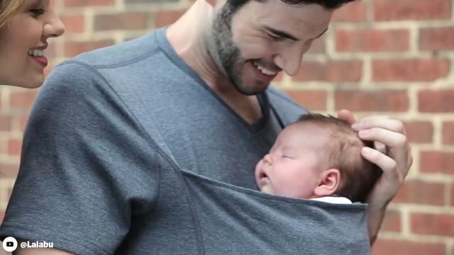 Dads can now carry their babies like kangaroos