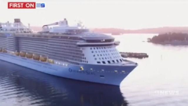 VIDEO: Fourth biggest cruise ship to dock in Brisbane