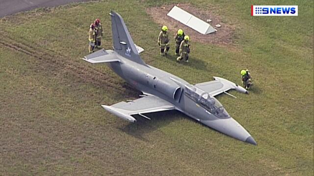 Plane skids off runway in failed take-off at Bankstown Airport
