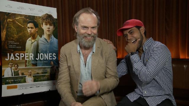 Jasper Jones' stars Hugo Weaving and Aaron McGrath