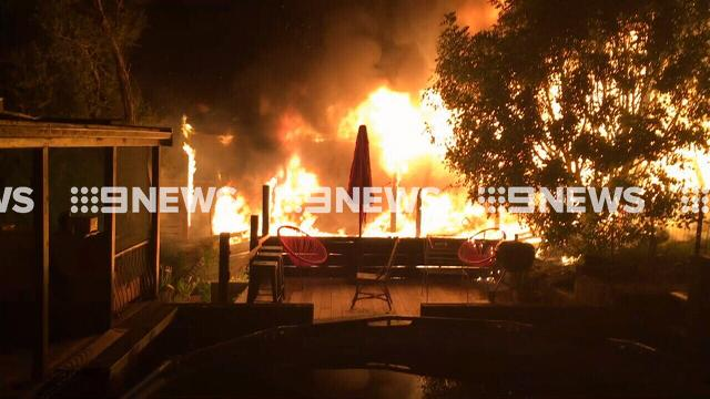 Quick-thinking son helps frail parents escape from powerful Mornington Peninsula house fire