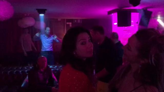 Prince William dances at a Switzerland nightclub