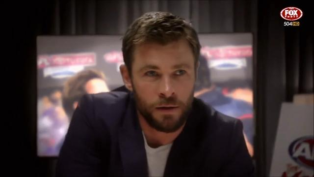 Chris Hemsworth stars in AFL ad