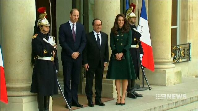 VIDEO: Prince William visits Paris on official duty for first time since mother's death