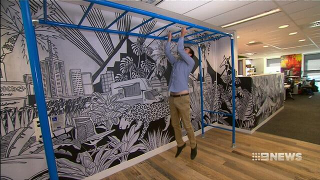VIDEO: 'Active office' seeks to combat workplace health problems