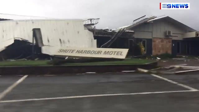 9RAW: Cyclone Debbie devastation in Shute Harbour