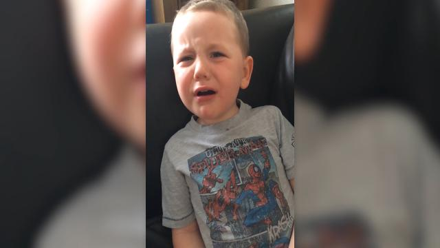 Five year old throws massive tantrum