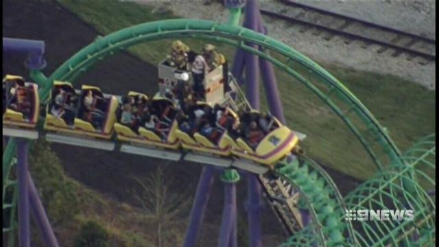 VIDEO: Tourist stuck for three hours on US rollercoaster