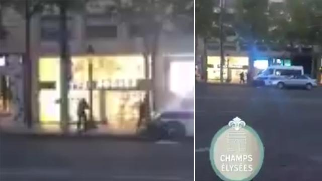 9RAW: Bystander watches on as police shoot suspect