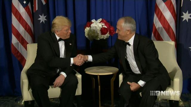Donald Trump and Malcolm Turnbull meet for the first time