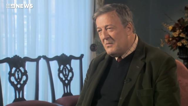 """9RAW: Stephen Fry investigated for """"blasphemous"""" comments on Irish television program"""