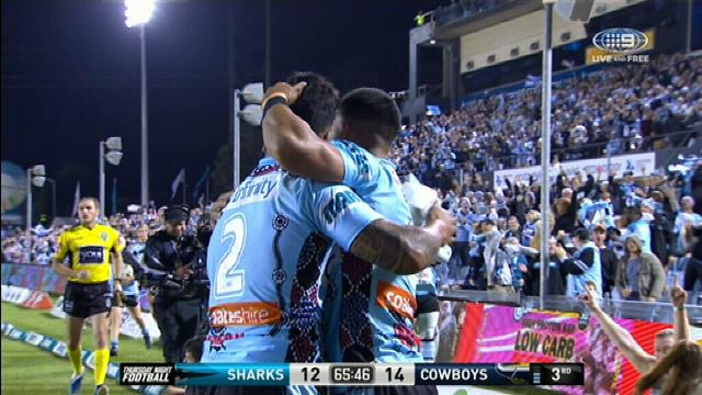 Sharks fight back to bite Cowboys in NRL