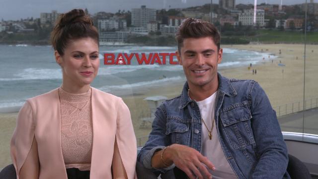Baywatch's Zac Efron and Alexandra Daddario guess Aussie slang