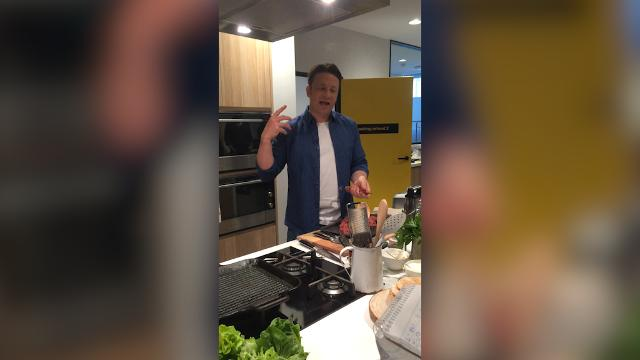 Jamie Oliver explains how good cooking is like balanced music