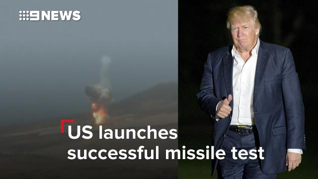 US launches unprecedented missile test