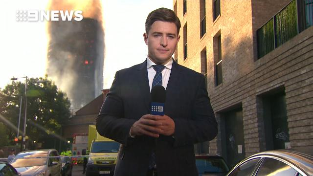 9NEWS reporter at scene of London tower fire